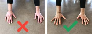 clawing fingers to prevent pain
